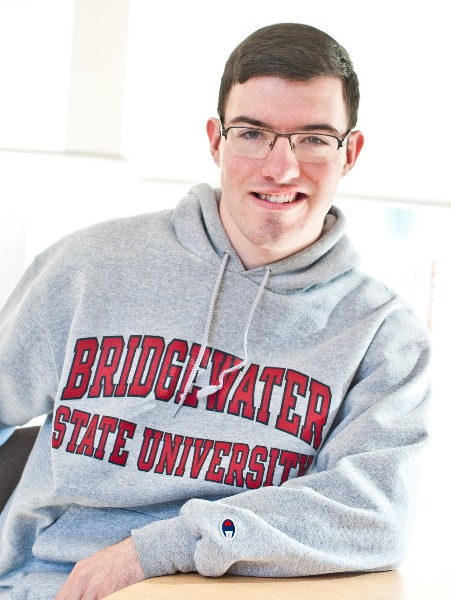 student in BSU sweatshirt